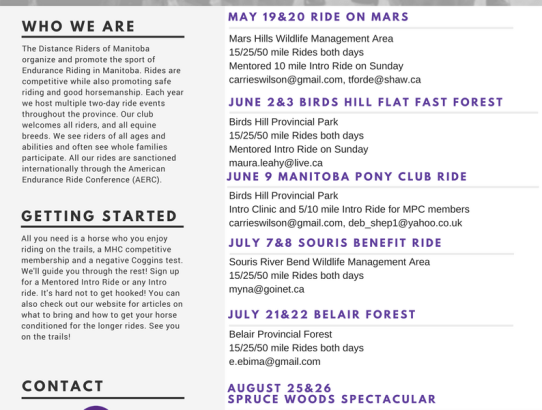2018 DRM Ride Brochure