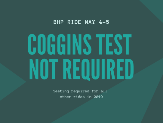 Coggins NOT required for BHP 2019