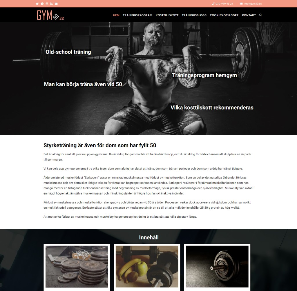 gym50 wordpress