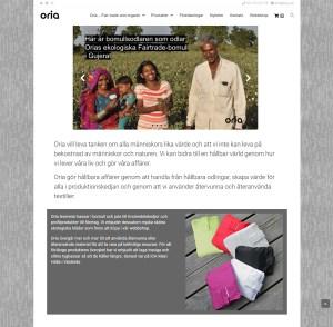 Oria.se ny hemsida och webshop