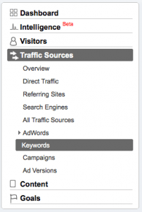 Traffic Sources - Keywords