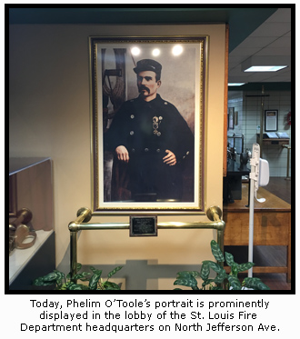 O'Toole Portrait in the STLFD Headquarters