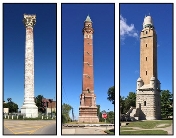 The St. Louis Water TowersThe St. Louis Water Towers