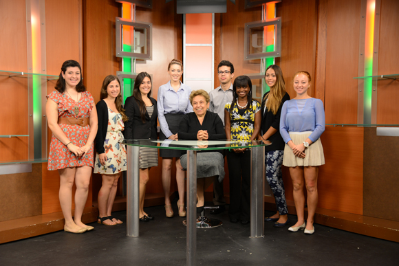 University President Donna Shalala press conference with student media to discuss the Affordable Care ACT.
