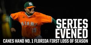 Miami hands Florida their first loss of the year, 5-3 / Hurricane Sports