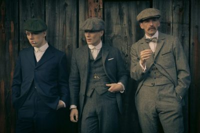John, Tommy and Arthur Shelby star in Peaky Blinders. The show can be watched on Netflix. Source: BBC Two.