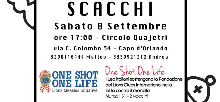 08/09/2019 – 3° Torneo di Scacchi: donati 100 vaccini!