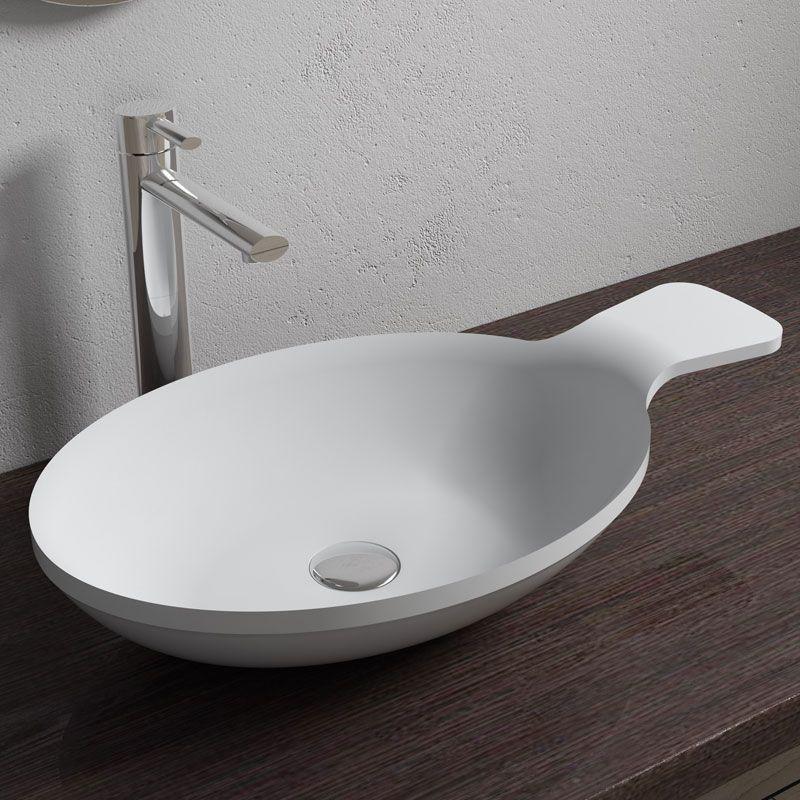 vasque cuillere ovale en solid surface sdv11