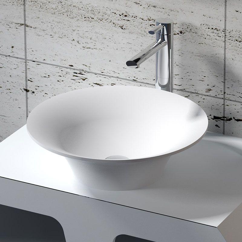 Vasque A Poser Ronde En Solid Surface Vasque Ronde Pour Salle De Bain Sdv32