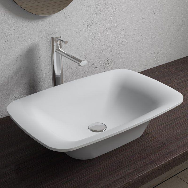 Vasque A Poser Rectangulaire Pour Salle De Bain Vasque Rectangulaire Blanche Sdv36