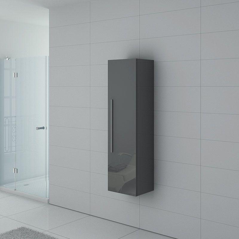colonne de rangement pal150gt salle de bain grise