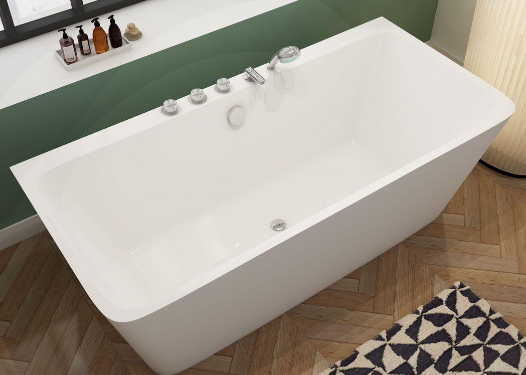 baignoire avec robinet integre 170 cm