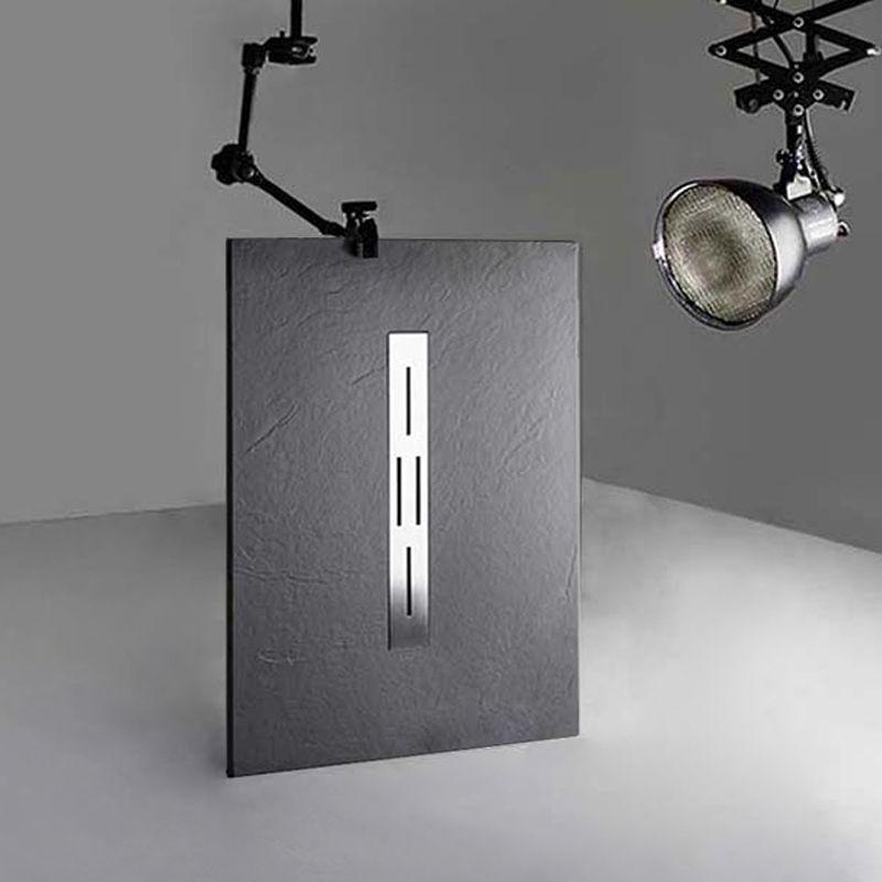 receveur de douche en gel coat ardesia graphite 120x80cm