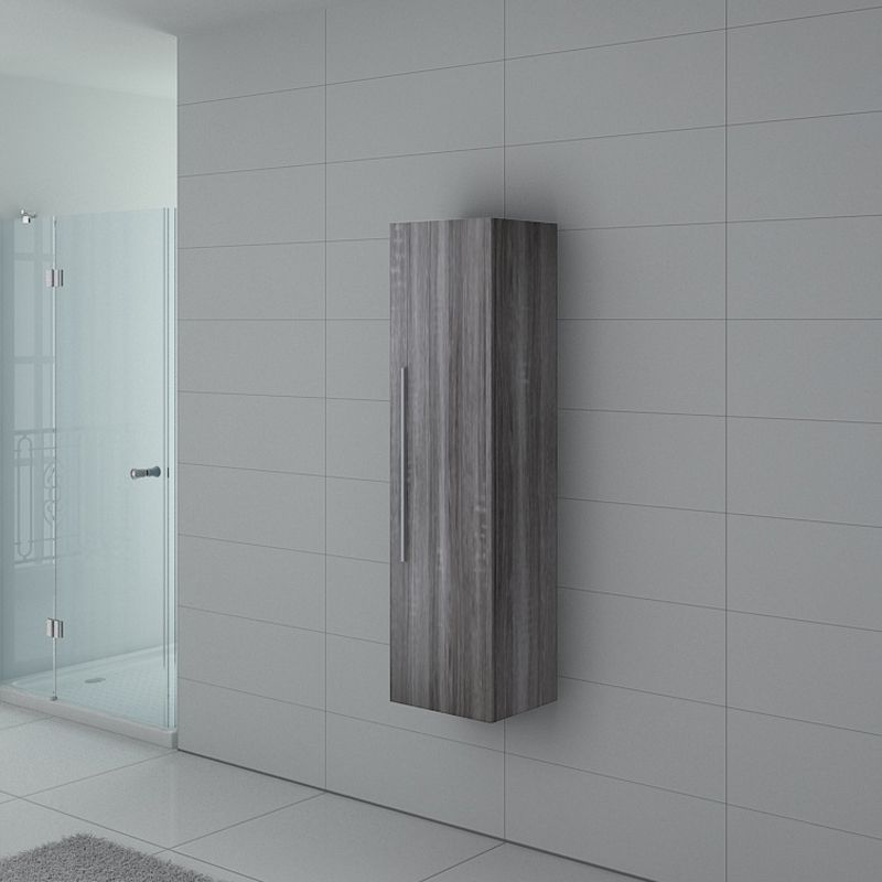 colonne de rangement pal150cg salle de bain chene gris