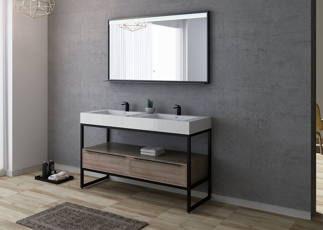 meuble double vasque industriel lamezia