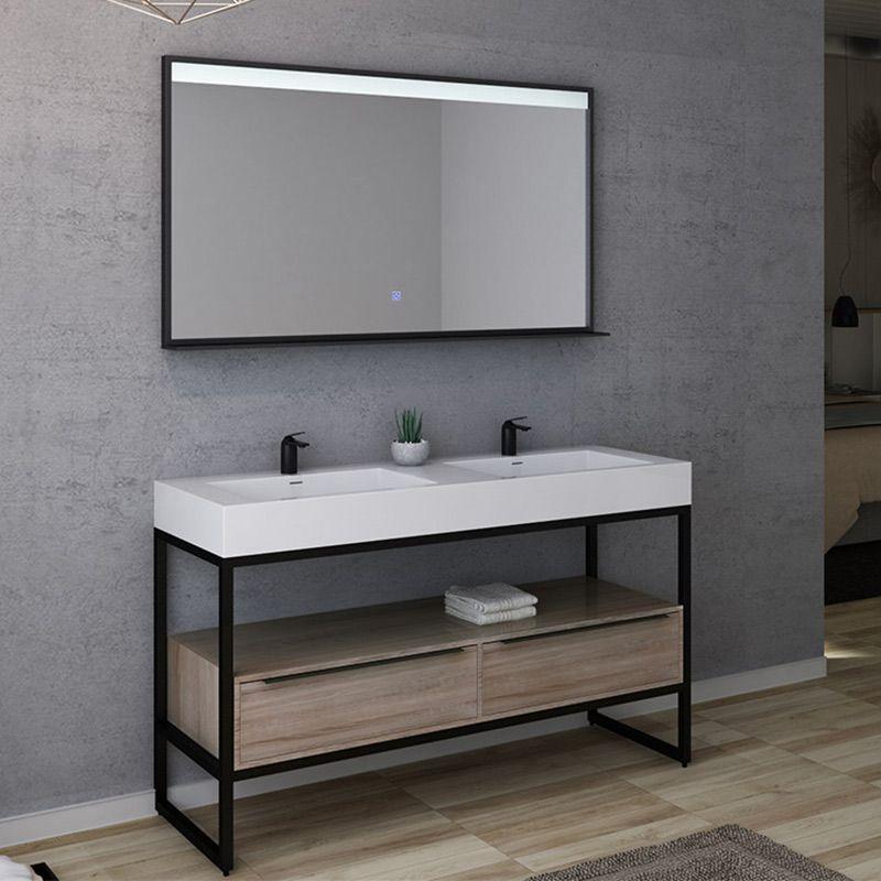 meuble de salle de bain lamezia 1400 scandinave