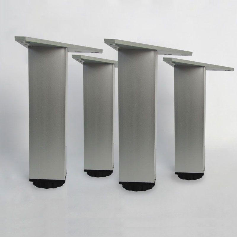 lot de 4 pieds carres pour meubles en 150 mm