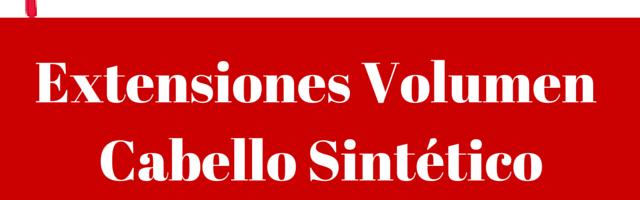 Extensiones Volumen Cabello Sintetico