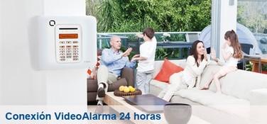 Alarma hogar Tyco conexion video alarma