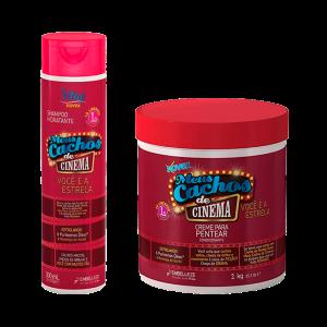 Novex Cachos De Cinema Shampoo 300ml y Crema de Peinar1K