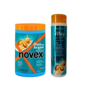 Novex Kit Oleo De Argán Shampoo 300ml y Tratamiento De 400 gr