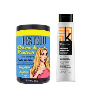 Kit Kanechom Penteou y Shampoo Hidrata y Repara