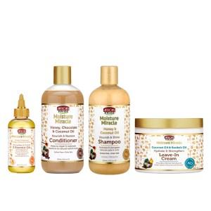 Kit African Pride Shampoo – Acondicionador – Leave in Cream – 5 Essential Oils