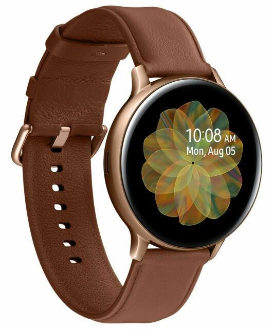 Galaxy Watch Active 2 44mm 4g Sm R825 Vodafone Gold Leather Strap 8806090071287 Ebay