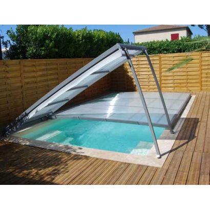 abri piscine plat en kit amovible cintre
