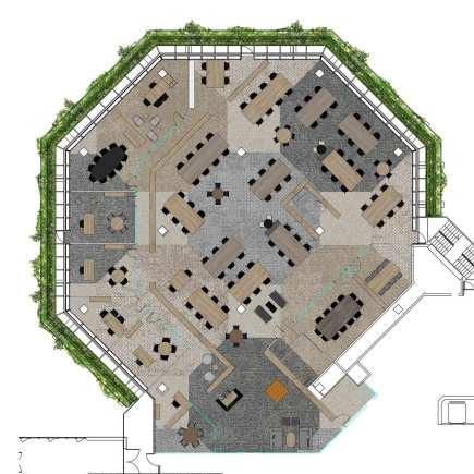 plano de planta de las oficinas Expogrupo en el edificio conocido como Banca Catalana