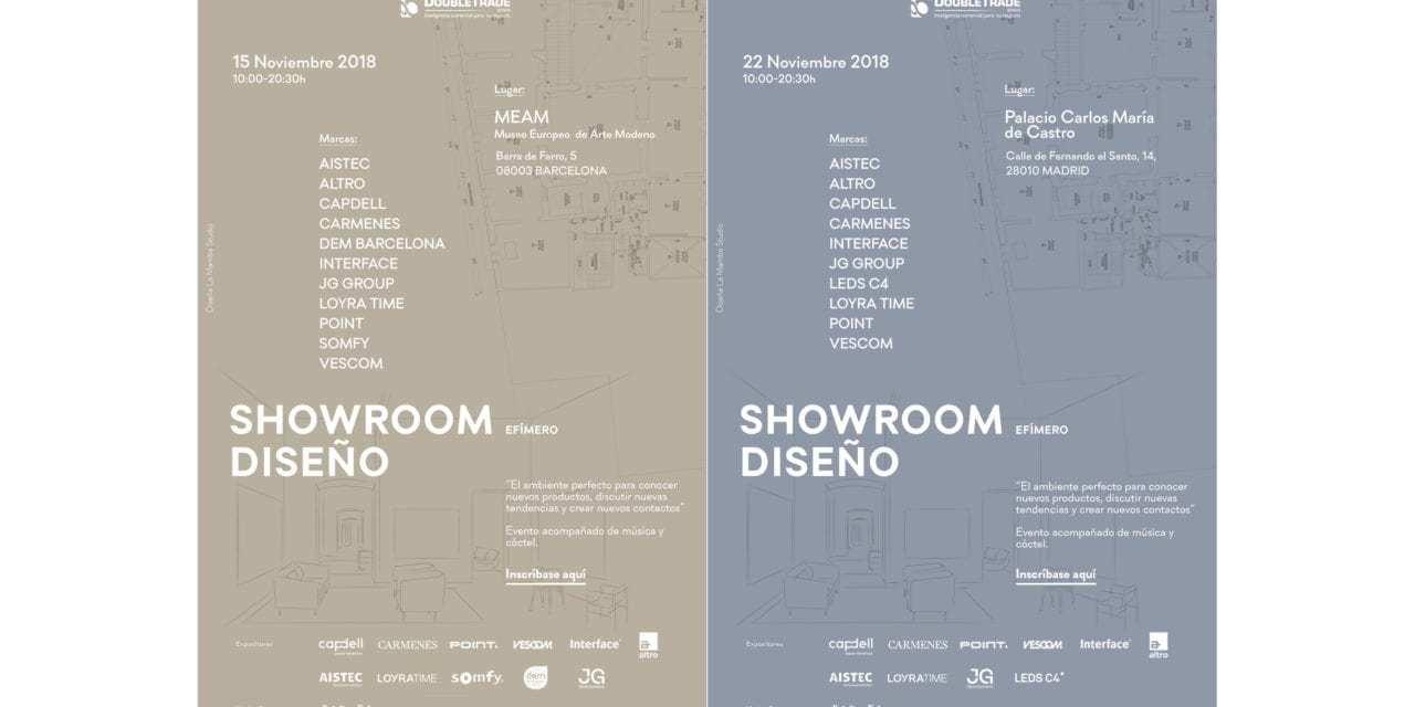 Se acercan los Showrooms de Diseño Double Trade Barcelona y Madrid