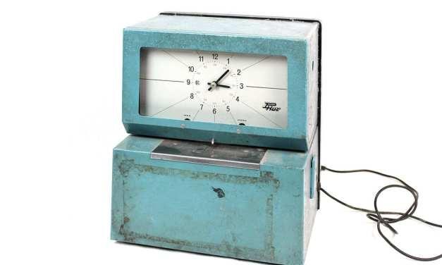Relojes de fichar: el chasquido del tiempo