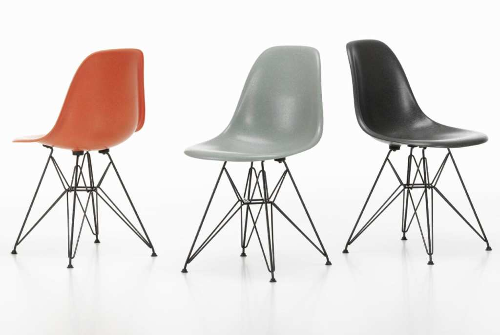 Fiberglass Side Chair Eames Vitra
