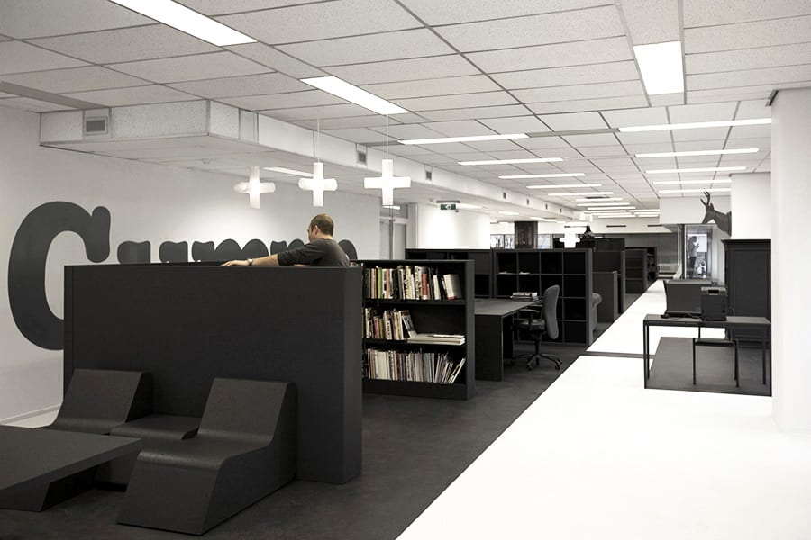 La oficina reciclada Gummo de i29 Interior Architects