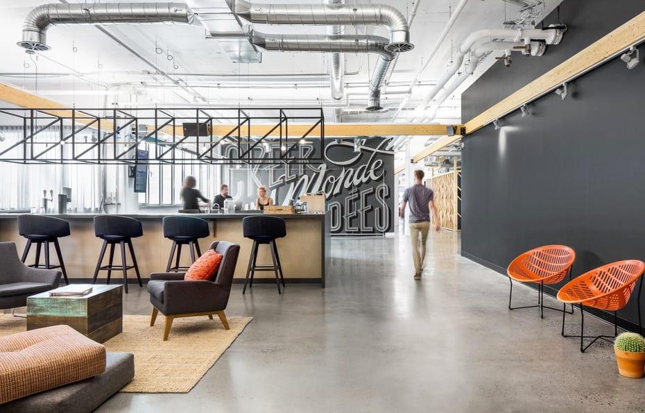sede en Montreal de Attraction, proyecto de Imperatori Design