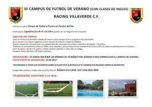 Campamentos de verano Racing Villaverde