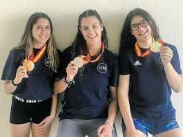 Cristina Rodríguez, Noelia Heras y Patricia Rodríguez