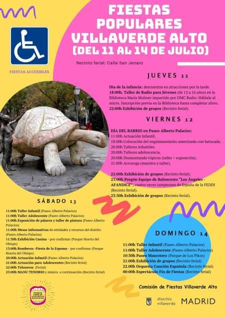 Programa de fiestas de Villaverde Alto 2019
