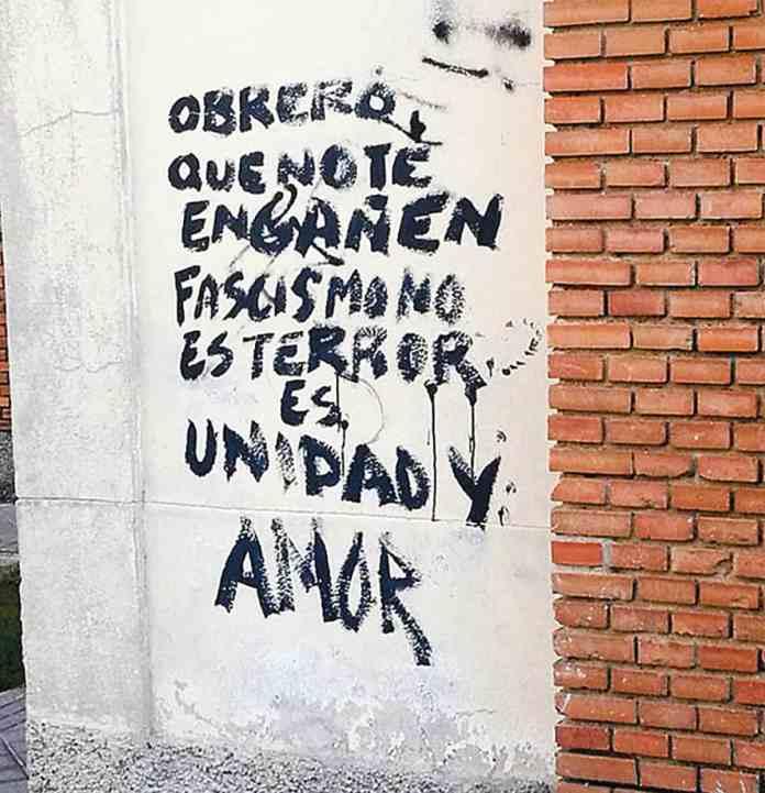 pintadas fascistas Villaverde