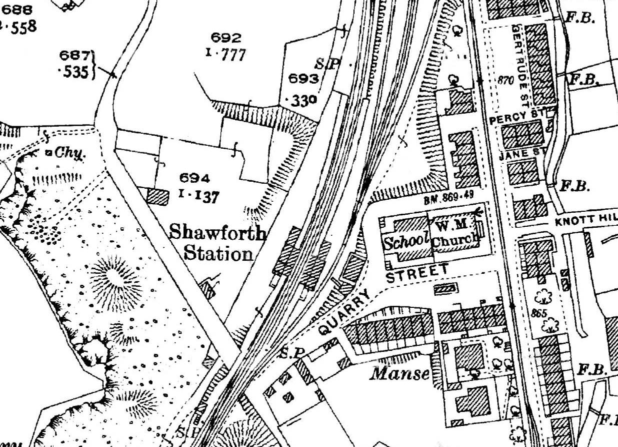 Disused Stations Shawforth Station