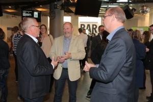 Poul Buur, bestyrelsesformand VisitVestsjælland, Gert Jørgensen, borgmester, til filmpremieren