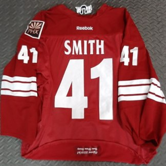 Mike Smith game worn jersey 41