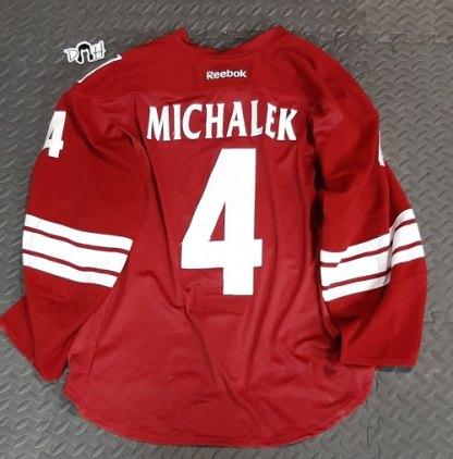 Zbynek Michalek Game Worn Set 1 Home Jersey Back