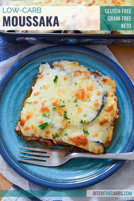 Low-Carb Moussaka with Eggplant