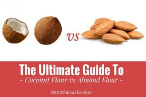 Coconut flour vs almond flour. See the 3 reasons why I am making the change to more coconut flour based recipes. | ditchthecarbs.com