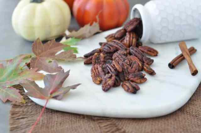 LOW CARB PUMPKIN SPICE ROASTED PECANS - Peace Love and Low Carb