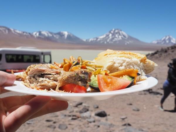 Altiplano Trek lunch
