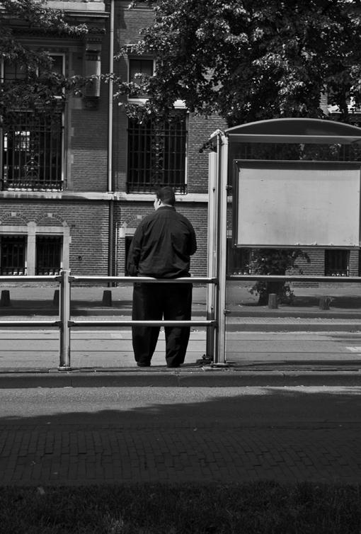 Wachten op de tram