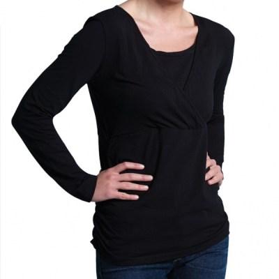 Carriwell-voedings-shirt-Kaj-1300-zwart