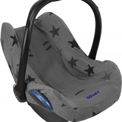 Dooky seat cover grey star